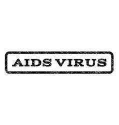 Aids virus watermark stamp vector