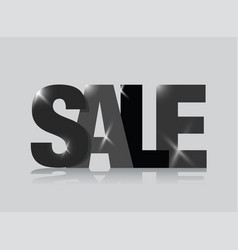 black sale sign vector image