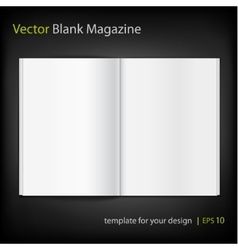 Blank magazine on black background template vector