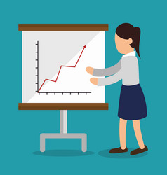 Business people with paperboard training icon vector