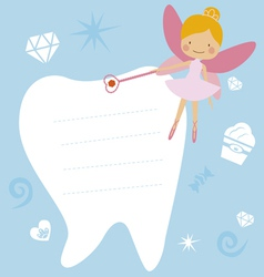 Card with the tooth fairy vector