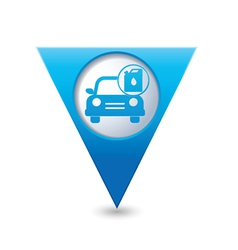 cars oil canister BLUE triangular map pointer vector image vector image