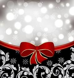 Christmas floral background ornamental design vector