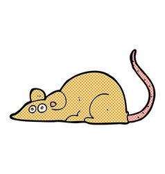 comic cartoon mouse vector image vector image