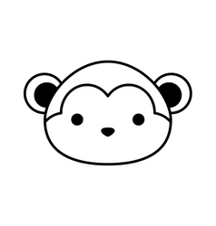 Cute monkey isolated icon vector