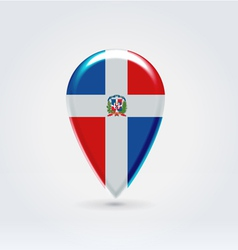 Dominicana icon point for map vector image vector image