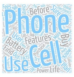 Electronics tips cell phone facts every user vector