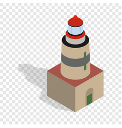 Falsterbo lighthouse sweden isometric icon vector