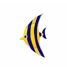 Fish zanclus icon in cartoon style vector image