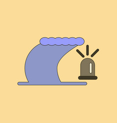 Flat icon stylish background tornado alarm lamp vector