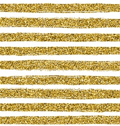 Golden glitter texture line on white background vector image
