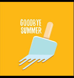 Goodbye summer concept vector