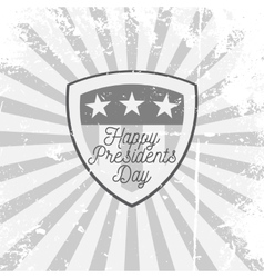 Happy presidents day shield with text vector