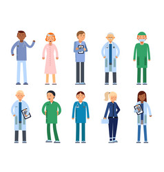 healthcare people in hospital pharmacist doctor vector image vector image