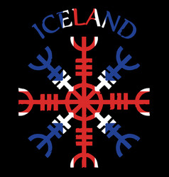 Helm of awe helm of terror icelandic magical vector
