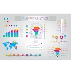 Infographic elements and communication concept vector