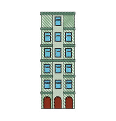 Isolated building tower vector