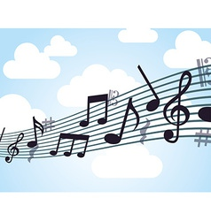 music note design vector image vector image