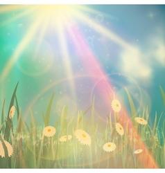 Nature spring or summer Vintage style background vector image