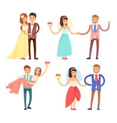 Newlyweds celebration set vector