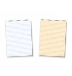 Paper Notebook Isolated on White Background vector image