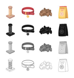 Pet store products merchandise and other web vector