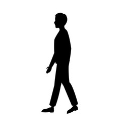 Pictogram man walking people image vector