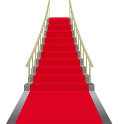 Red stairs vector