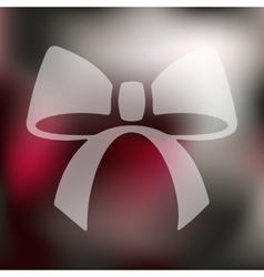 ribbon icon on blurred background vector image vector image