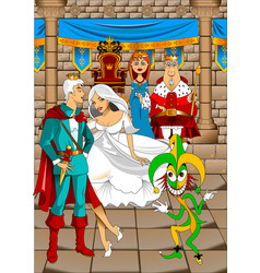 royal family and jester vector image