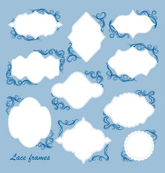 Set of frames with decorative elements vector
