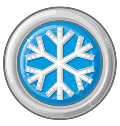 Snowflake sign button vector