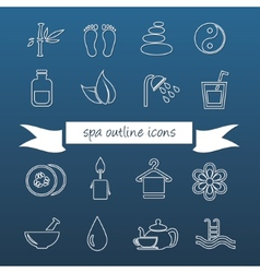 spa outline icons vector image