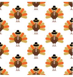 turkey seamless pattern vector image