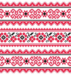 Ukrainian folk art embroidery pattern or print vector image vector image
