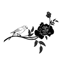 Valentinel vignette with bird vector image vector image