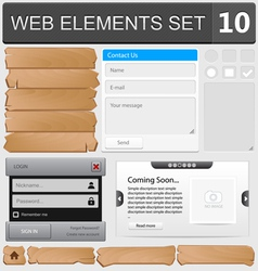 Web elements set 10 vector image vector image