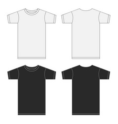 white and black t-shirt template collection eps10 vector image vector image