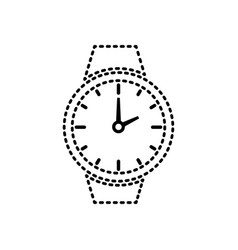 wristwatch sticker vector image