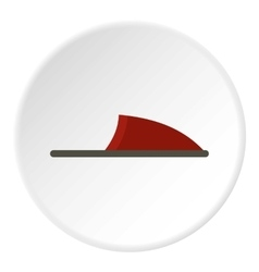 Slipper icon flat style vector