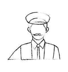 Taxi driver icon vector