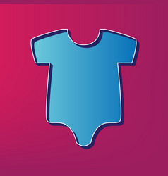 Baby cloth   blue 3d printed vector