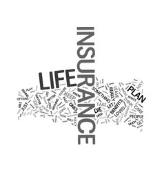 Lifeinsurance text background word cloud concept vector