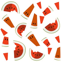 Colorful of watermelon slices vector