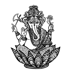 Decorative ganesha vector