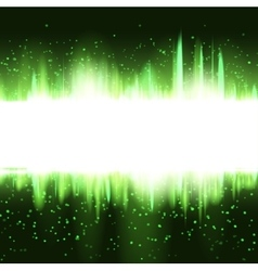 Abstract christmas green glowing background vector