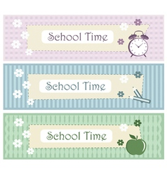 school background set vector image