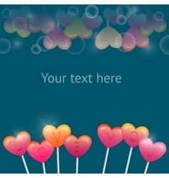 with sweet Valentines hearts vector image