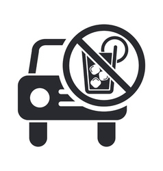 Drunk drive icon vector