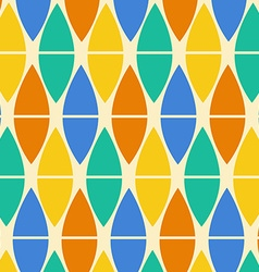 Textile colorful geometric pattern vector